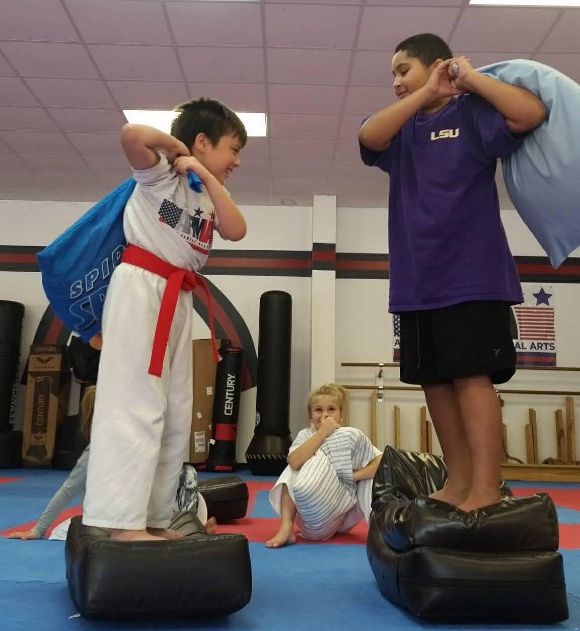 karate pillow fight