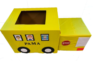 PAMA bus Back 2 school supply drive