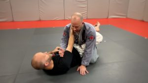 in closed guard with control of gi