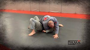 keeping hand on mat