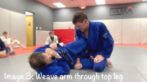 arm weave through top leg