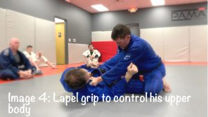 lapel grip to control his upper body