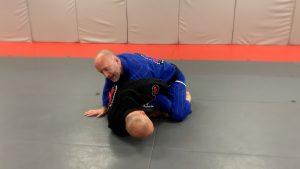 Putting knee on floor