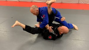 As you sweep, opponent posts his leg.