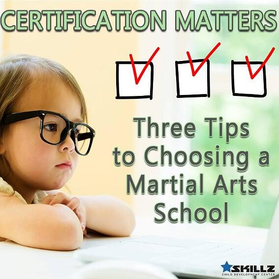 martial choosing certification matters arts three