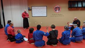 Kaiso teaching life principles for success to class