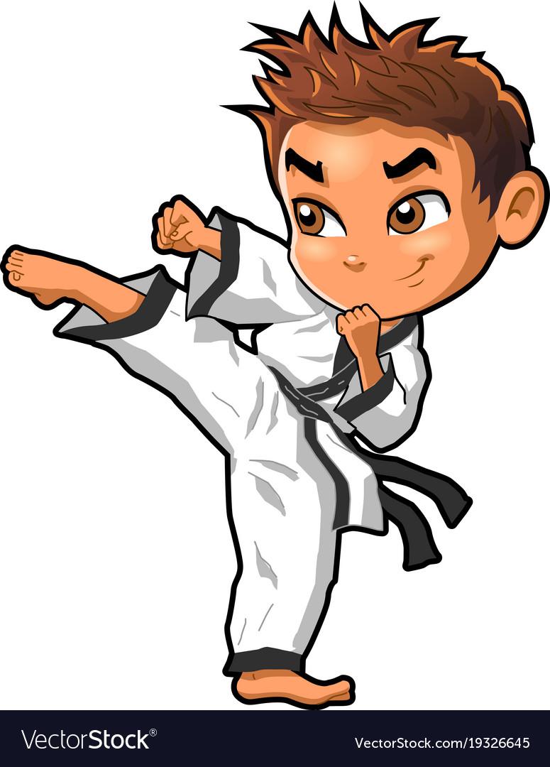 Karate Martial Arts Tae Kwon Do Dojo Vector Clipart Cartoon Boy Martial Arts Ohio