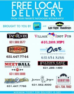 Patchogue restaurants offering free delivery during coronavirus shut down