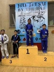 Jonathan DeLEon winning the Jiu-Jitsu by the Bay Tournaments.