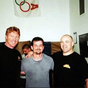 Marc Hagebusch bjj black belt with Olympic gold medalist Mark Shultz